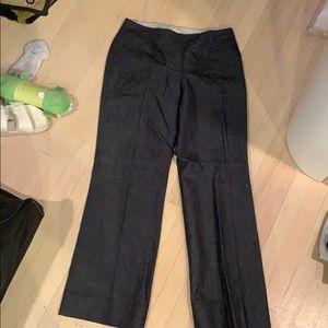 LOFT 2P wide leg denim-look dress pants